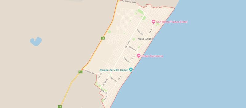 Mapa de Villa Gesell y sus calles, ¿Dónde queda y cómo llegar?